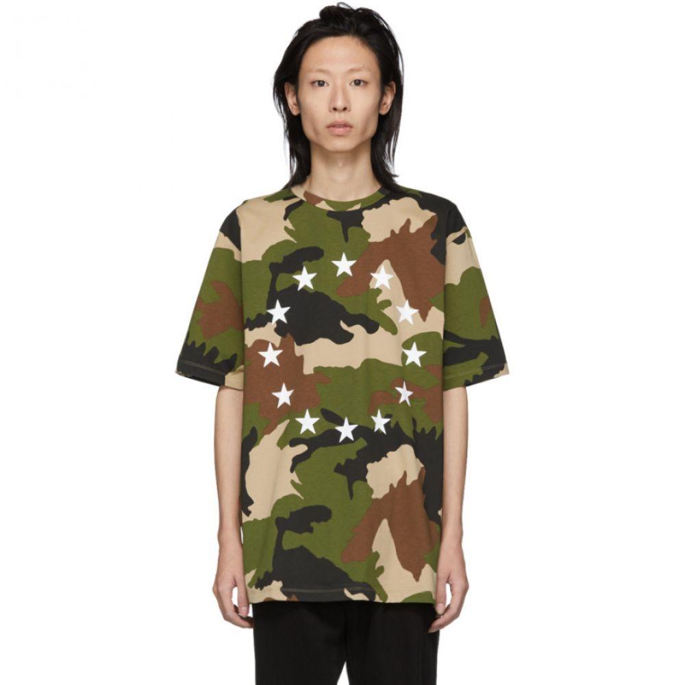 エチュード ?tudes メンズ トップス Tシャツ【Green & Brown Camo Europe Wonder T-Shirt】