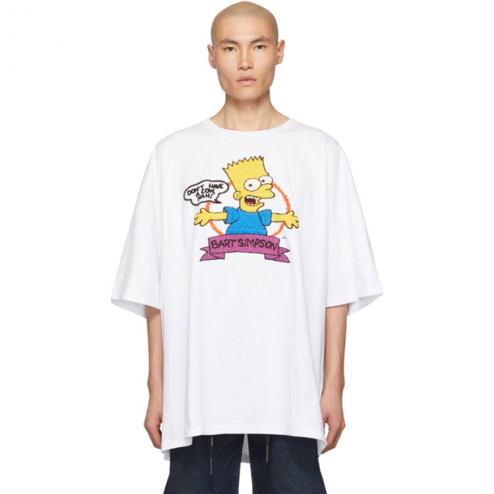 オフ-ホワイト Off-White メンズ トップス Tシャツ【White Super Mega Oversized Bart T-Shirt】