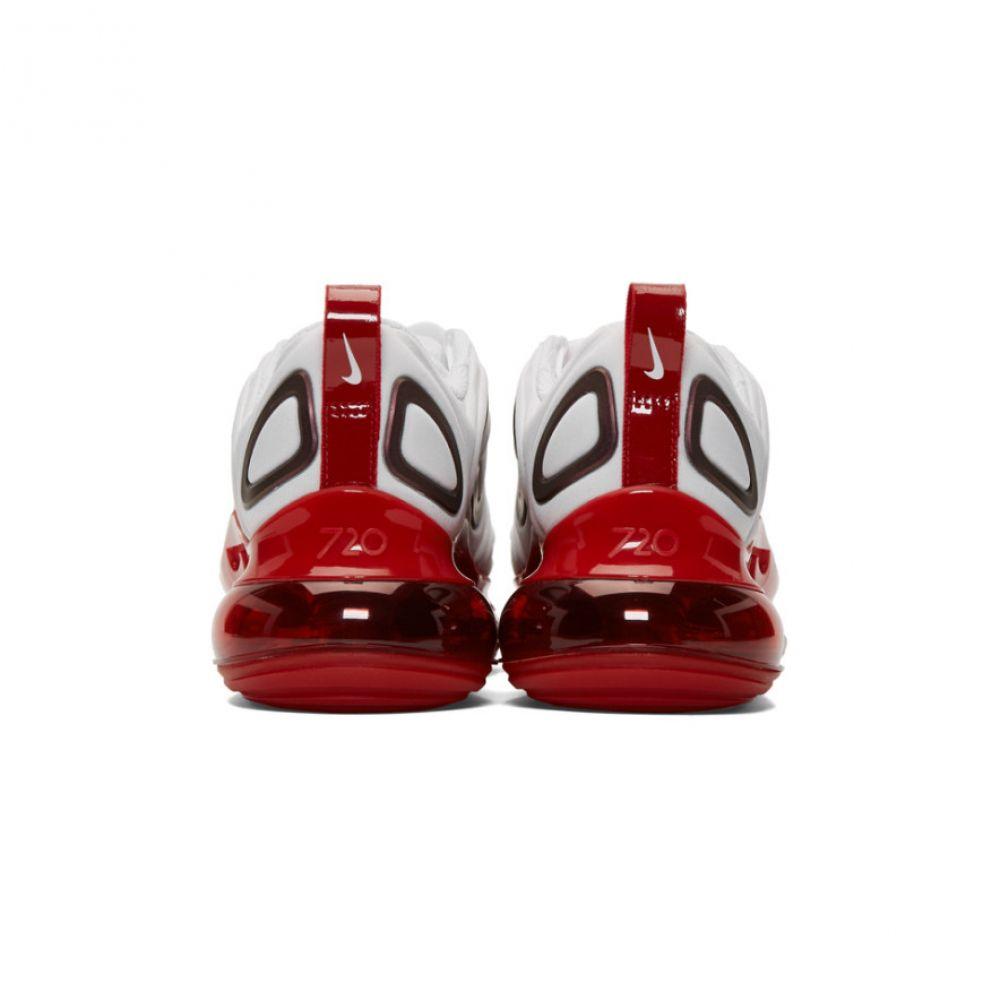 ナイキ Nike レディース シューズ・靴 スニーカー【White & Red Air Max 720 SE Sneakers】