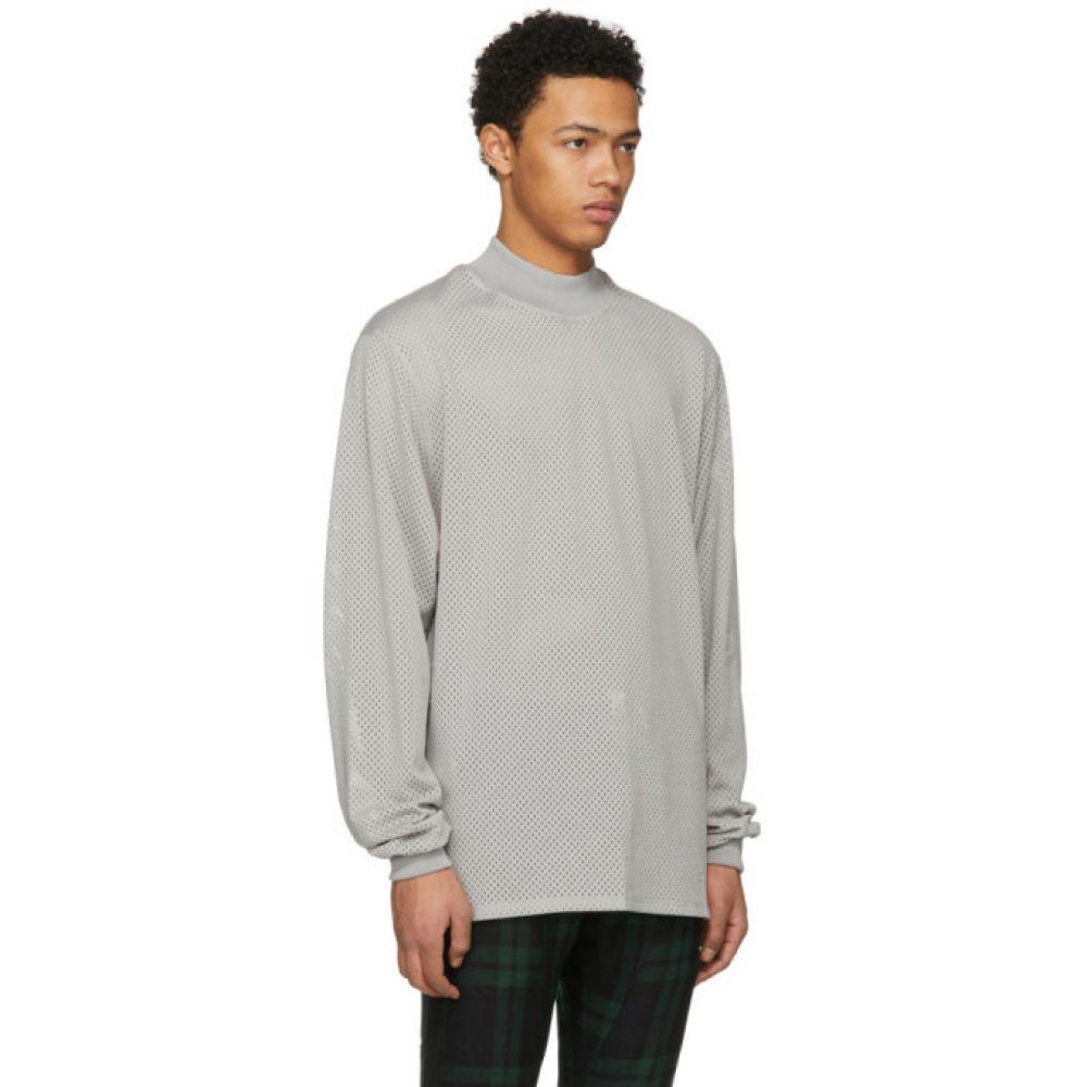 フィアオブゴッド Fear of God メンズ トップス 長袖Tシャツ【Grey Long Sleeve Mesh T-Shirt】