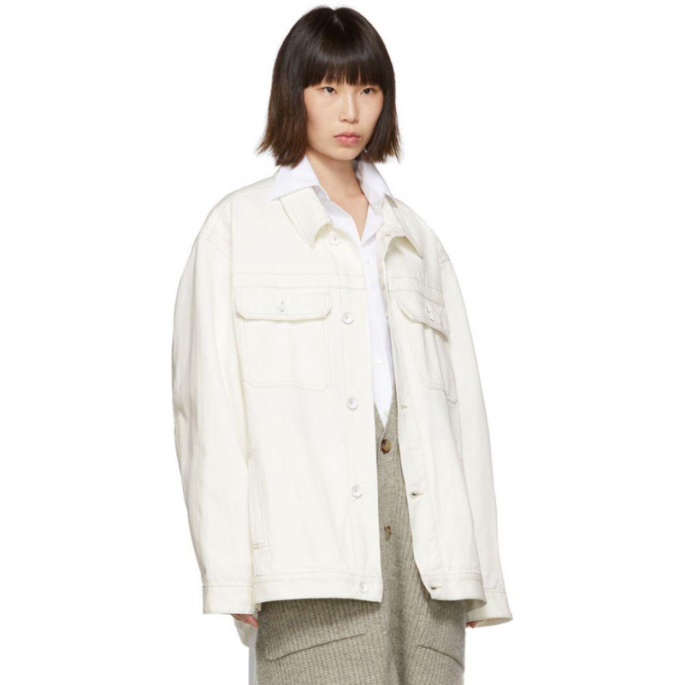 メゾン マルジェラ Maison Margiela レディース アウター ジャケット【Off-White Oversized Denim Jacket】
