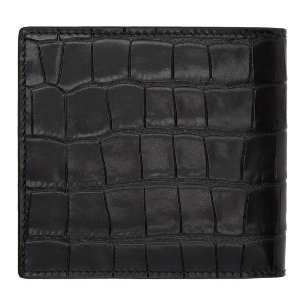 アレキサンダー マックイーン Alexander McQueen メンズ 財布【Black Croc Skull Wallet】