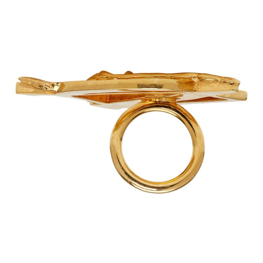 ヴェルサーチ Versace レディース ジュエリー・アクセサリー 指輪・リング【Gold Oversized DV Barocco Ring】Gold