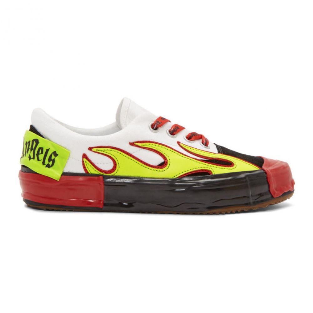 パーム エンジェルス Palm Angels レディース シューズ・靴 スニーカー【Black & White Flame Sneakers】Yellow/Multicolor