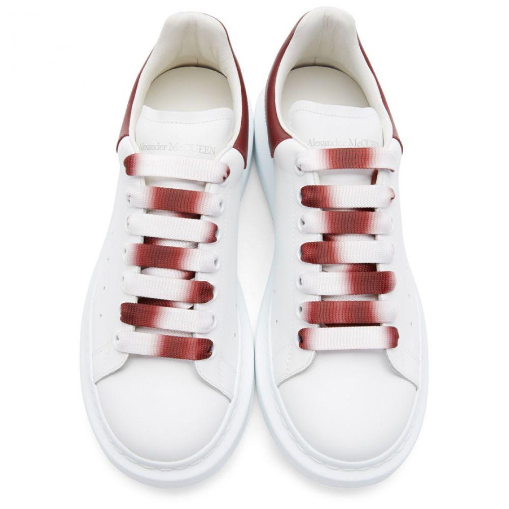アレキサンダー マックイーン Alexander McQueen メンズ シューズ・靴 スニーカー【White & Red Degrade Oversized Sneakers】Red garnet