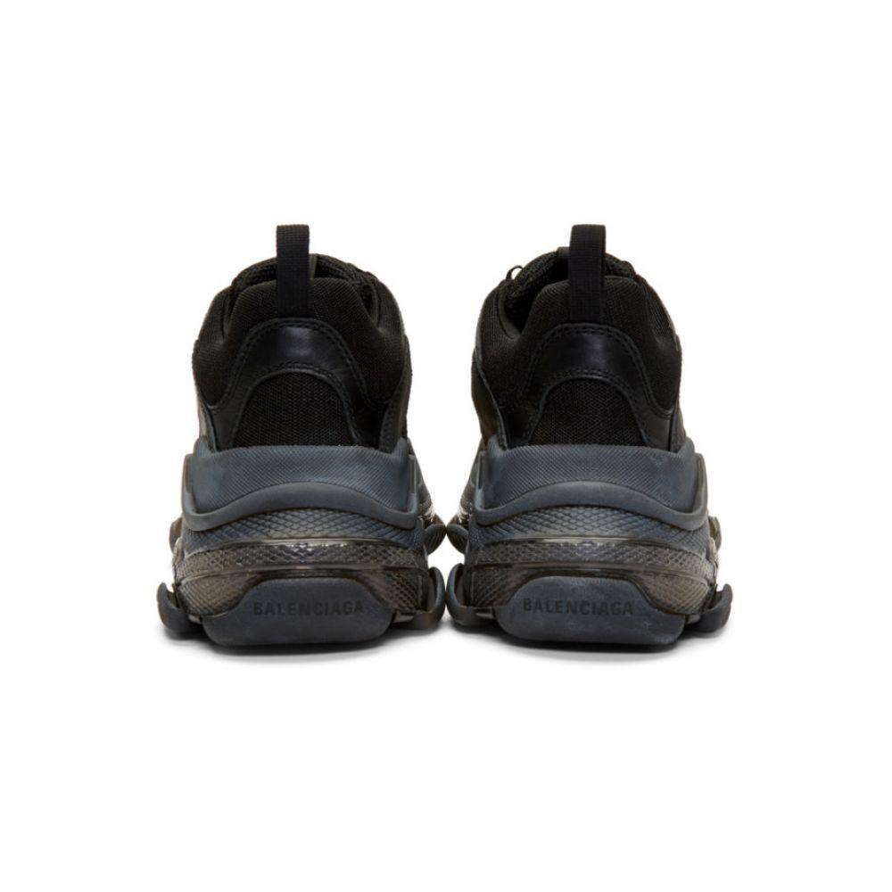 バレンシアガ Balenciaga メンズ シューズ・靴 スニーカー【Black Triple S Clear Sole Sneakers】