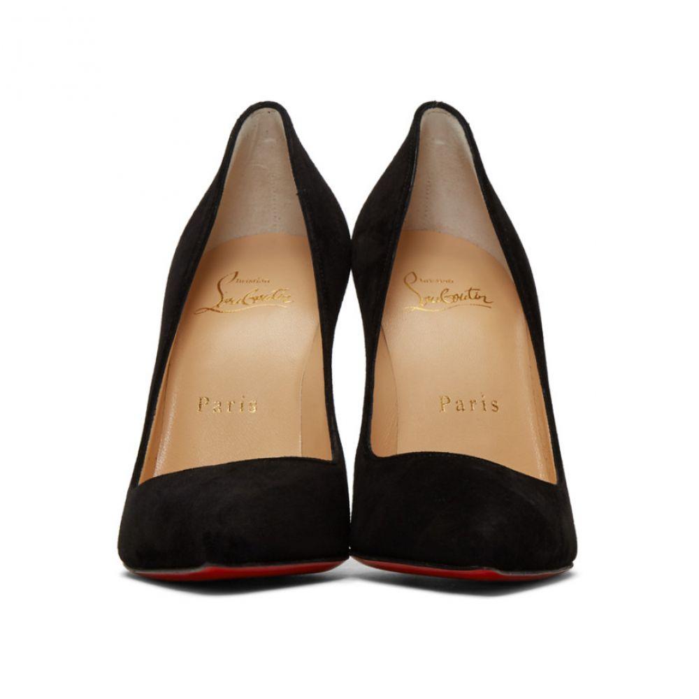 クリスチャン ルブタン Christian Louboutin レディース シューズ・靴 ヒール【Black Suede Pigalle Heels】Black