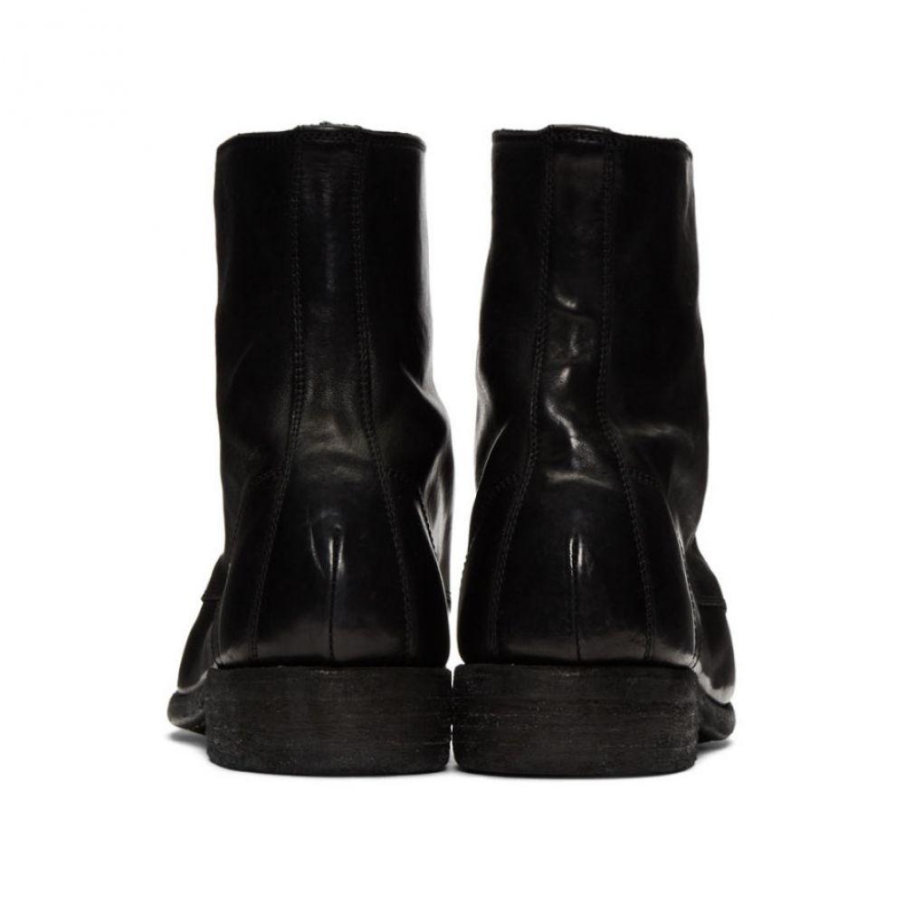 グイディ Guidi メンズ シューズ・靴 ブーツ【Black Classic Lace-Up Boots】