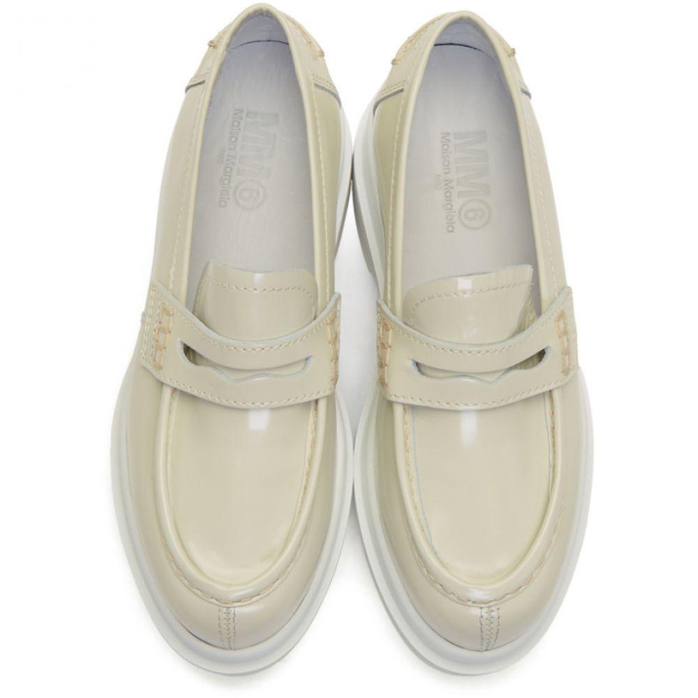 メゾン マルジェラ MM6 Maison Margiela レディース シューズ・靴 ローファー・オックスフォード【Green & White Platform Loafers】Green/White