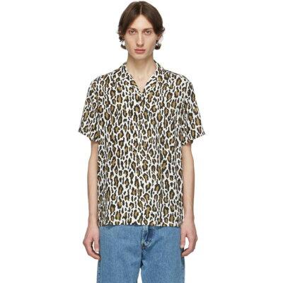 レオパードパターンメンズシャツ