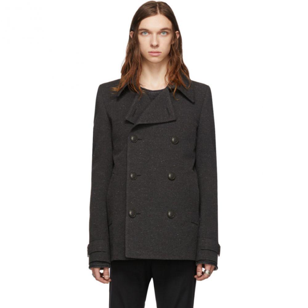 メンズファッション, コート・ジャケット  Deepti Grey Classic Caban JacketBlack