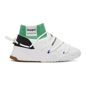 アディダス adidas Originals by Alexander Wang レディース スニーカー シューズ・靴【White Puff High-Top Sneakers】White