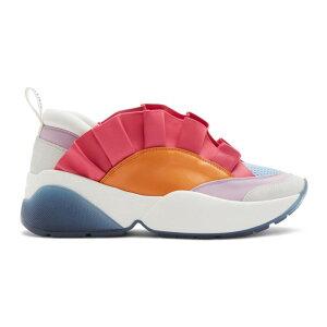 Emilio Pucci Ladies Sneakers Shoes/Shoes 【Orange & Pink Ruffled Jungle Joy Sneakers】 Orange