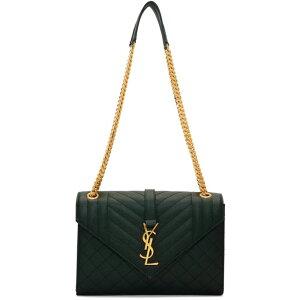 イヴ サンローラン Saint Laurent レディース ショルダーバッグ バッグ【Green Medium Envelope Bag】Mint