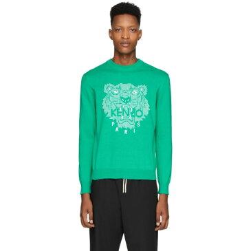ケンゾー Kenzo メンズ スウェット・トレーナー トップス【Green Tiger Head Sweatshirt】Mint