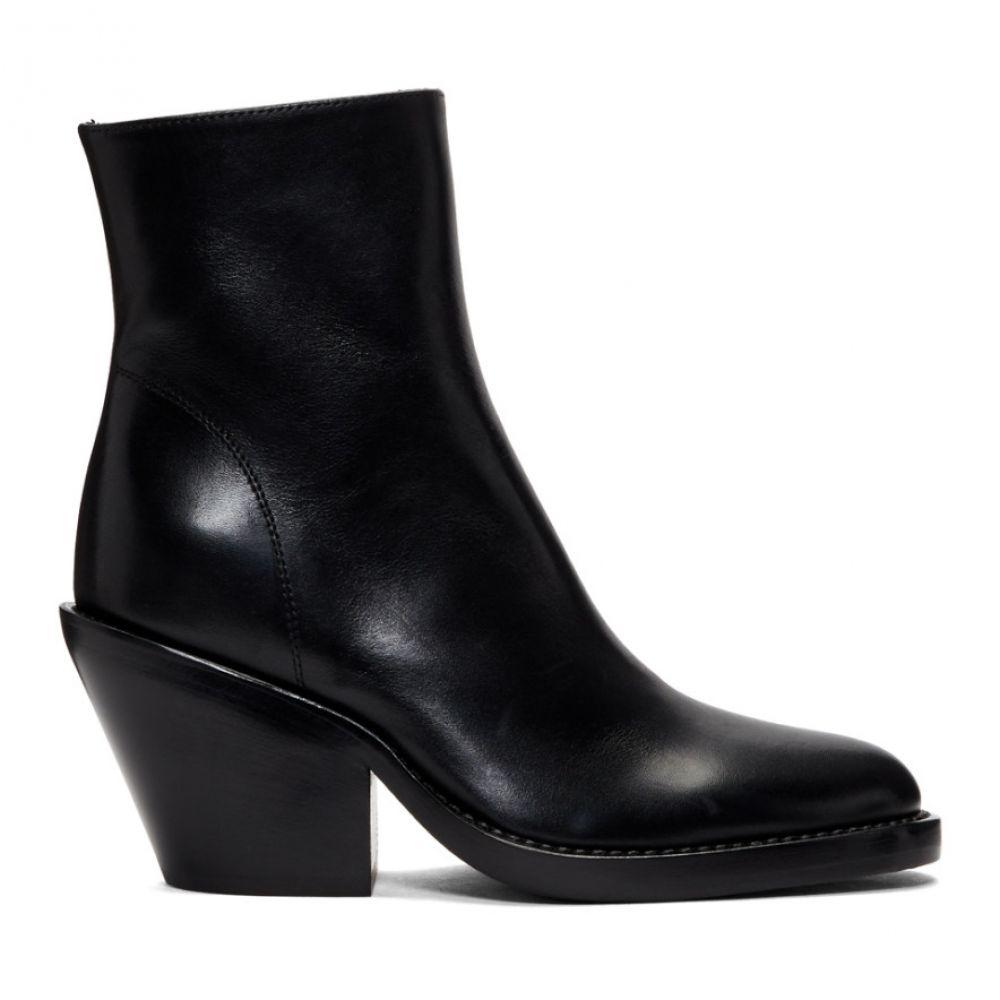 ブーツ, その他  Ann Demeulemeester Black Slashed Heel BootsBlack