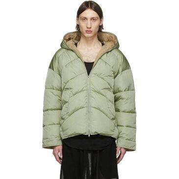 ランダム アイデンティティーズ Random Identities メンズ ダウン・中綿ジャケット アウター【Green Duvet Puffer Jacket】Green tea