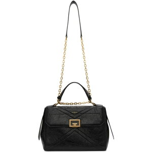 Givenchy Givenchy Ladies Bag [Black Medium Crinkled ID Bag] Black