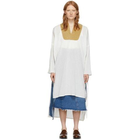 ロエベ Loewe レディース ワンピース チュニックドレス ワンピース・ドレス【White Tunic Dress】White/Beige