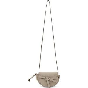 ロエベ Loewe レディース ショルダーバッグ バッグ【Beige Mini Gate Bag】Light oak