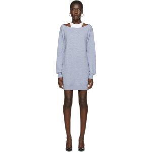فستان ألكسندر وان alexanderwang.t للسيدات من قطعة واحدة من قطعة واحدة [فستان أزرق بطبقتين] أزرق / أبيض