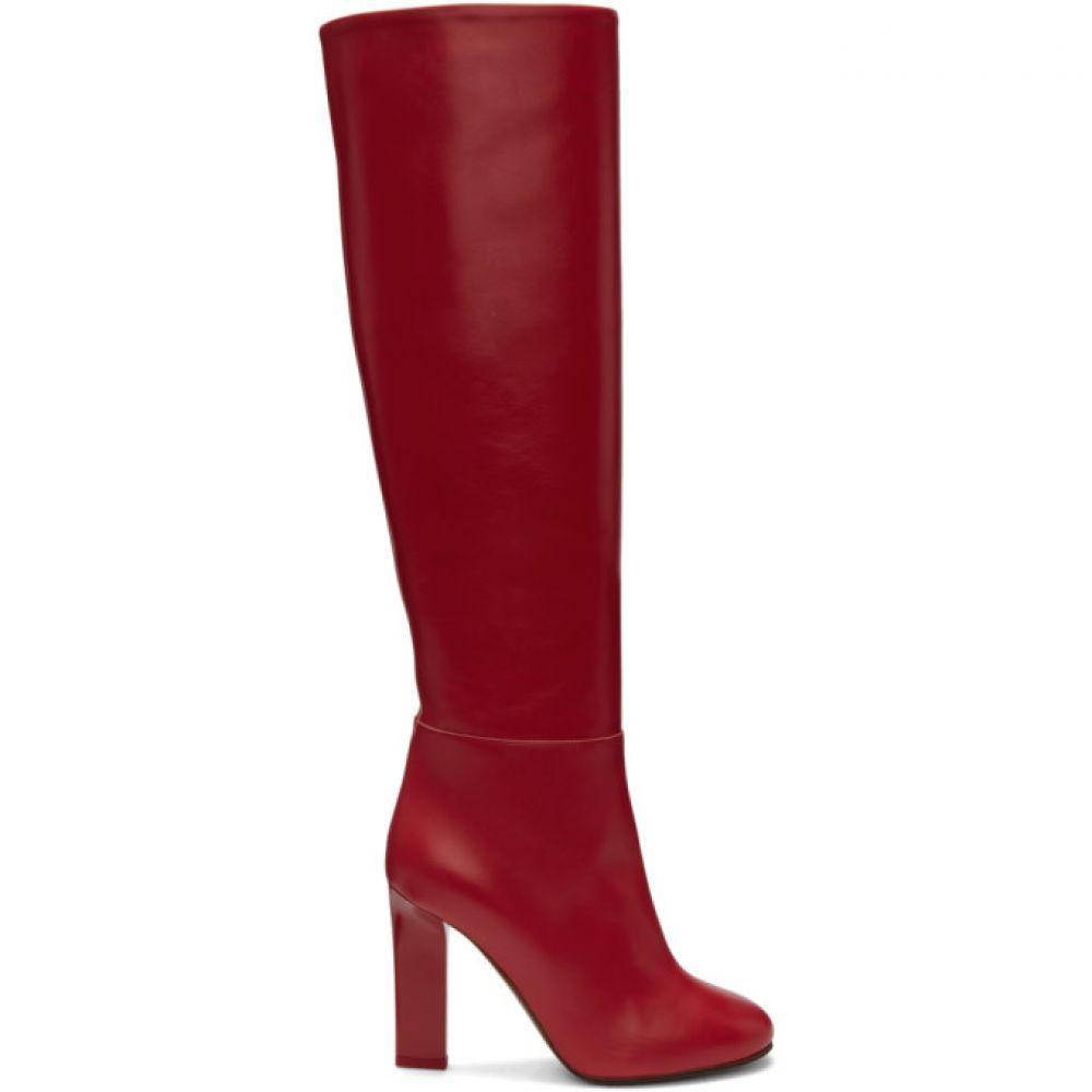 ヴィクトリア ベッカム レディース シューズ・靴 ブーツ【Red Leather Tall Boots】
