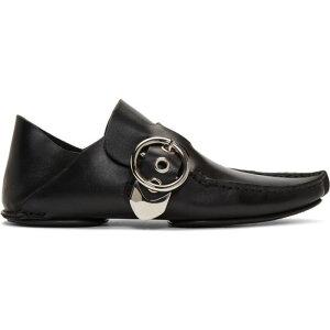 ロエベ Loewe レディース スリッポン・フラット シューズ・靴【black pointy moccasins】Black