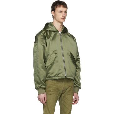フィアオブゴッド メンズ アウター ブルゾン【Green Hooded Bomber Jacket】