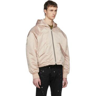 フィアオブゴッド メンズ アウター ブルゾン【Pink Hooded Bomber Jacket】