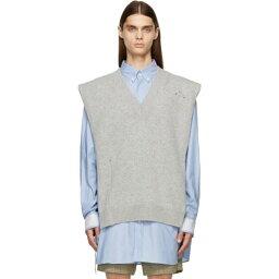 メゾン マルジェラ Maison Margiela メンズ ベスト・ジレ トップス【Grey Knit Distressed Vest】Light grey