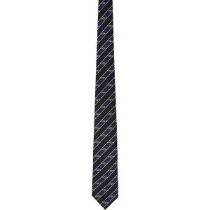 グッチ Gucci メンズ ネクタイ 【Navy Silk Interlocking G Horsebit Tie】Blue