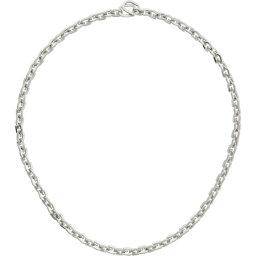 ジバンシー Givenchy メンズ ネックレス ジュエリー・アクセサリー【Silver G Link Necklace】Silvery grey