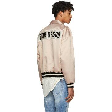フィアオブゴッド メンズ アウター ブルゾン【Pink Satin Coaches Jacket】