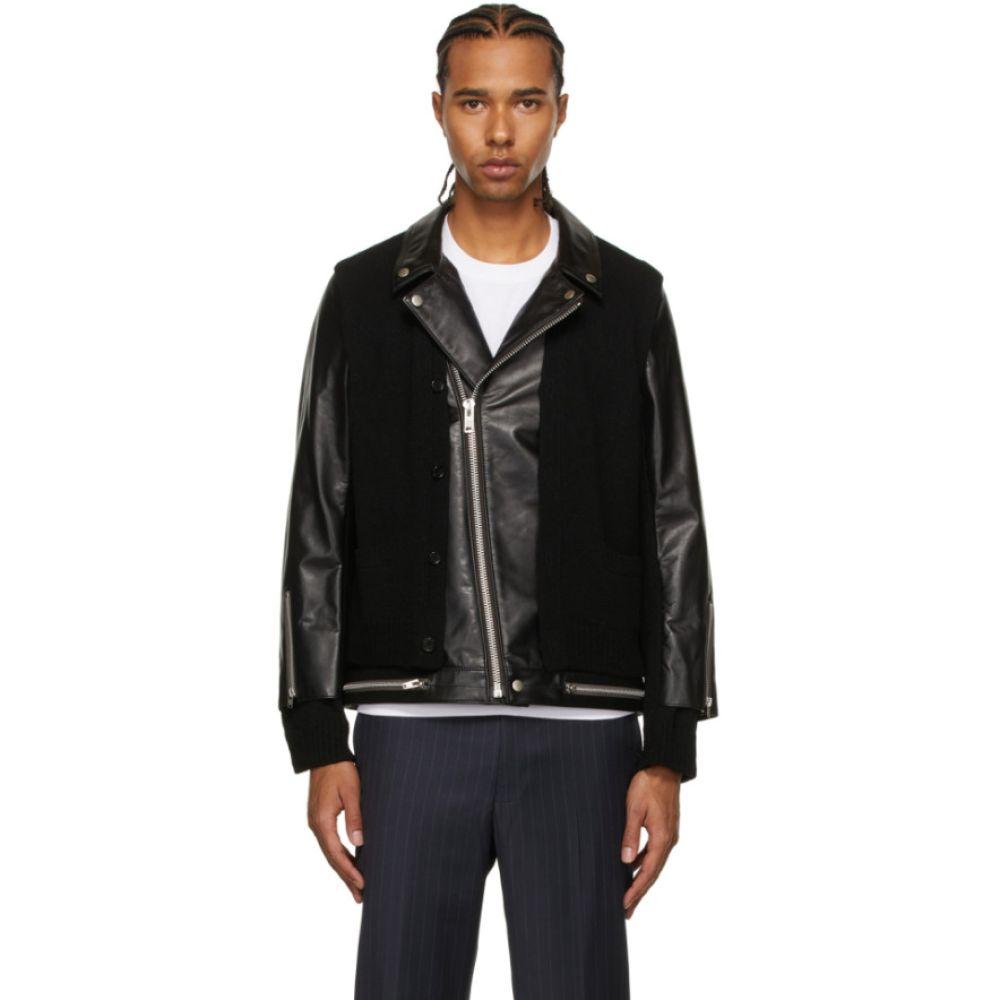 メンズファッション, コート・ジャケット  Undercover Black Wool Leather JacketBlack