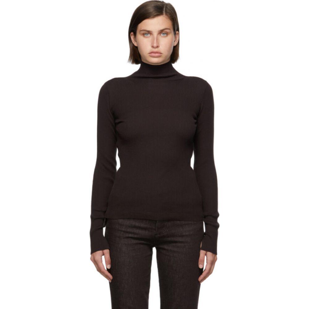 ニット・セーター, その他  AURALEE Brown Giza Rib Knit TurtleneckDark brown