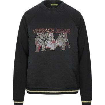 ヴェルサーチ VERSACE JEANS メンズ スウェット・トレーナー トップス【sweatshirt】Black