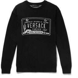 ヴェルサーチ VERSACE メンズ ニット・セーター トップス【Sweater】Black