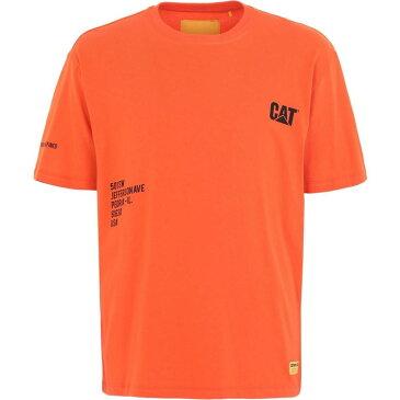 キャピタラー カジュアル CATERPILLAR メンズ Tシャツ トップス【fashion t-shirt】Orange