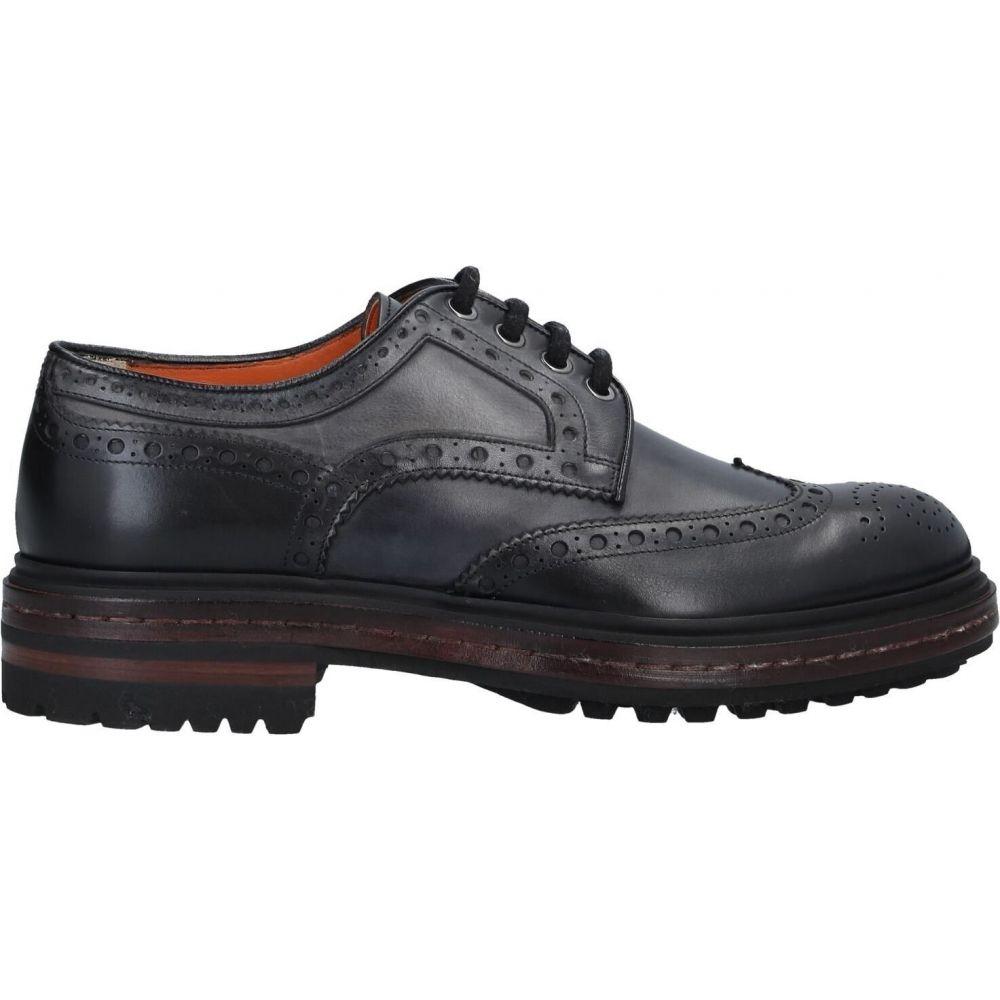 メンズ靴, その他  SANTONI laced shoesBlack