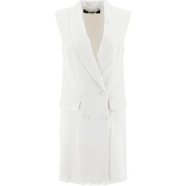 フェデリカ Federica Tosi レディース ワンピース ノースリーブ ワンピース・ドレス【Sleeveless Double-Breasted Dress】White