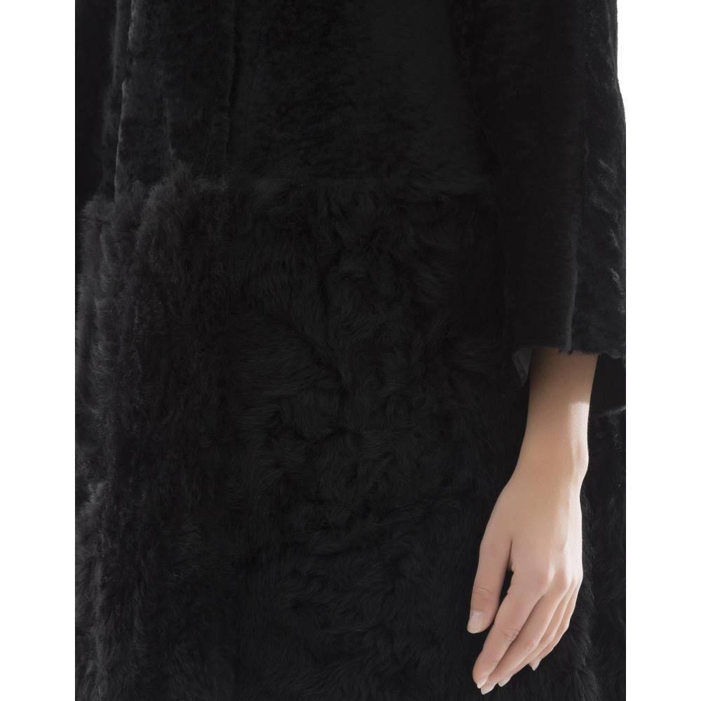 ドローム レディース アウター ジャケット【Black fur jacket with hoodie】Black
