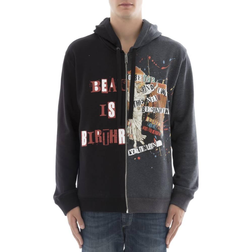 ヴァレンティノ メンズ トップス スウェット・トレーナー【Black cotton sweater】Black