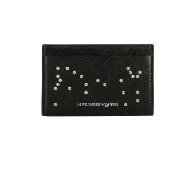 10b0e7bfea08 アレキサンダー マックイーン メンズ カードケース·名刺入れ【Black ...
