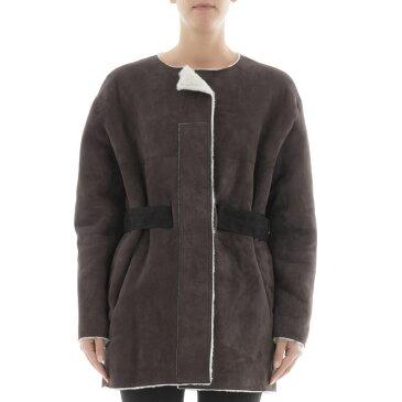 イザベル マラン Isabel Marant レディース アウター コート【Brown leather coat】Brown