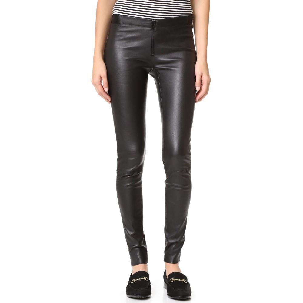 アリス アンド オリビア alice + olivia レディース ボトムス レギンス【Zip Front Leather Leggings】Black:フェルマート