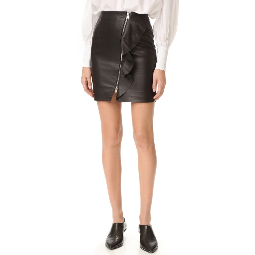 イロ IRO レディース スカート カジュアルスカート【Tia Leather Skirt】Black:フェルマート