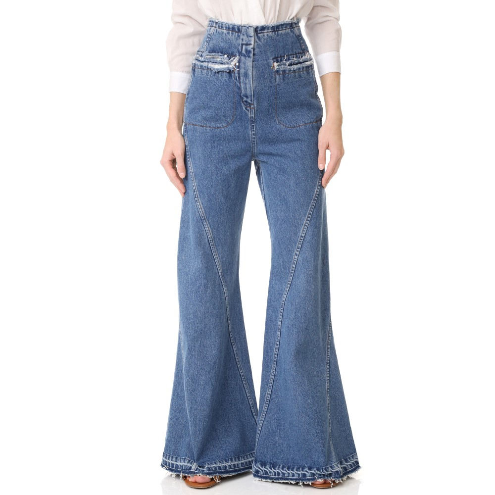 エステバン コルタサル Esteban Cortazar レディース ボトムス ジーンズ【High Waist Flared Jeans】Brut Blue:フェルマート