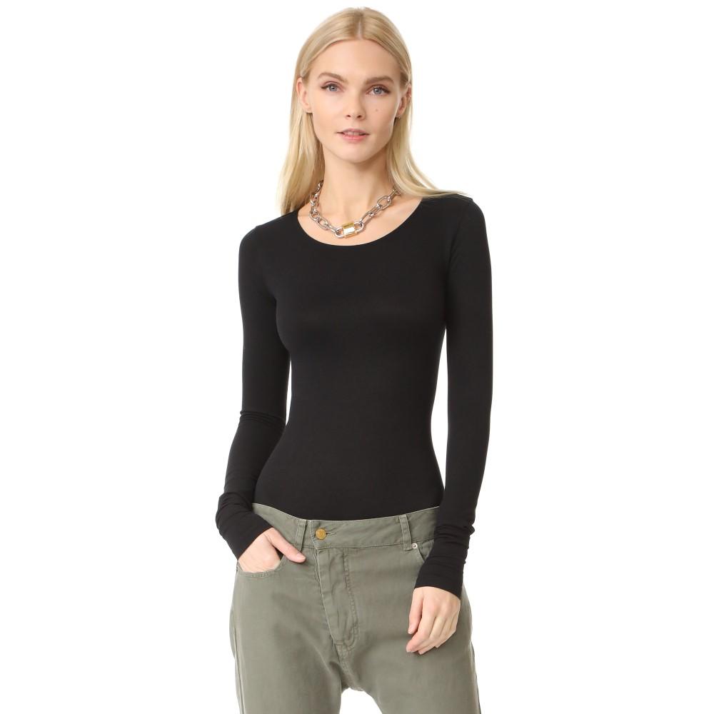 リック オウエンス Rick Owens Lilies レディース インナー ボディースーツ【Long Sleeve Bodysuit】Black:フェルマート