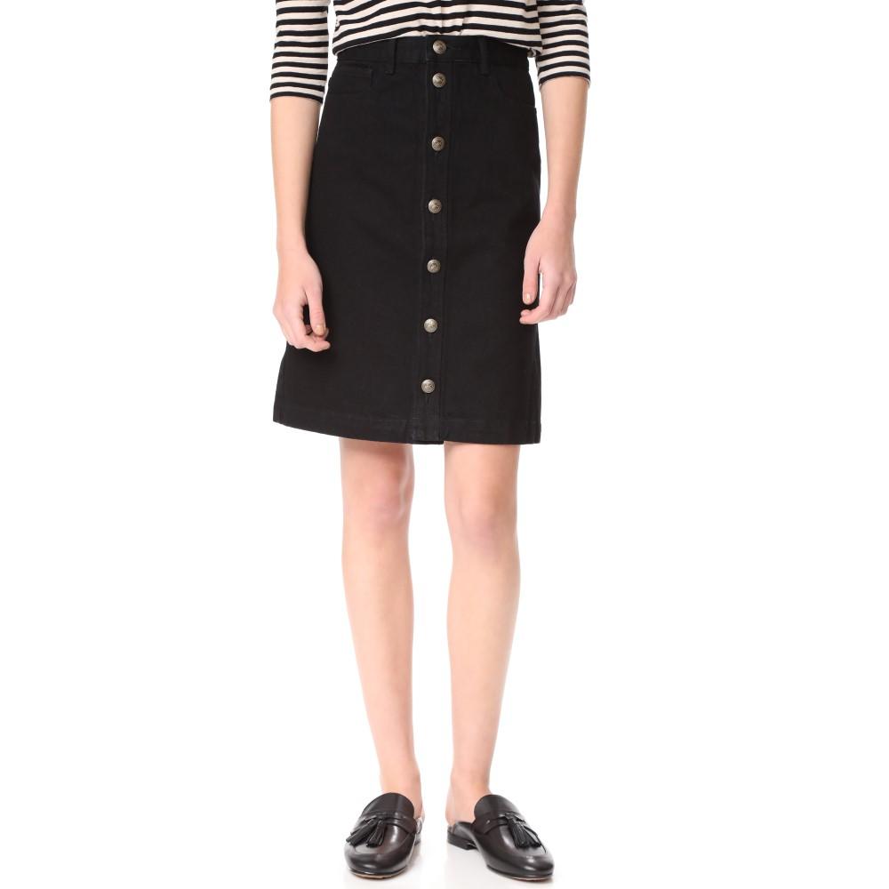 アーペーセー A.P.C. レディース スカート ミニスカート【Therese Skirt】Noir:フェルマート