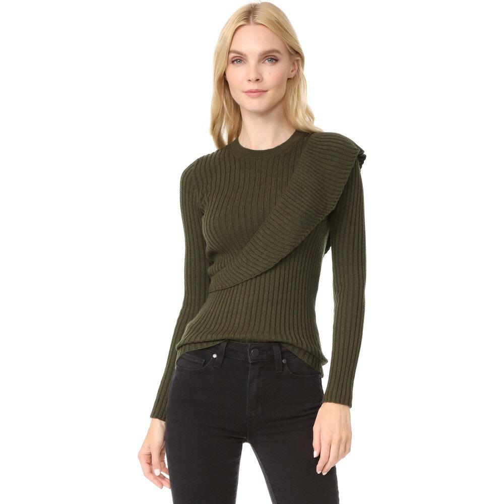 ファジー Fuzzi レディース トップス ニット・セーター【Ruffle Sweater】Military Green:フェルマート